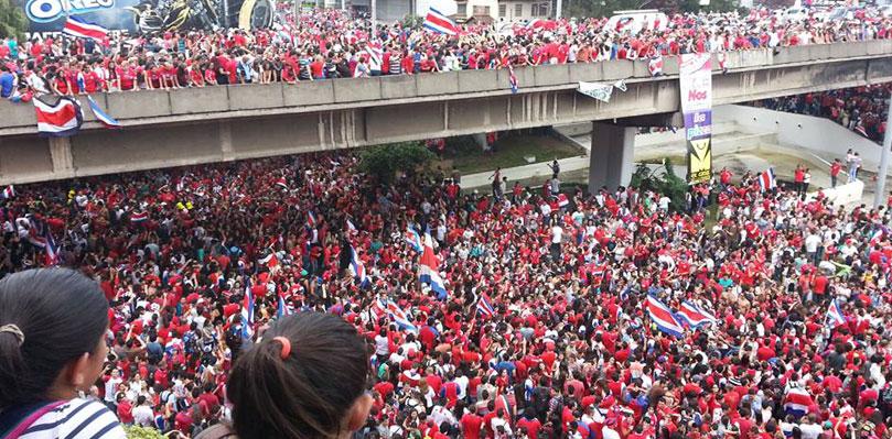 Resultado de imagen para aficion costa rica mundial brasil 2014